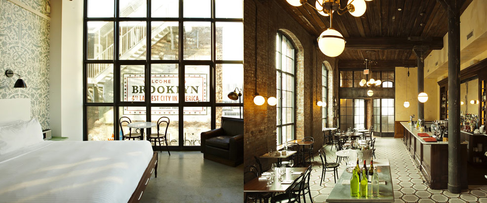 WYTHE HOTEL, Brooklyn Hotels, Brooklyn Boutique Hotels, New hotels in Brooklyn, NY
